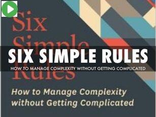 ویدئو: شش قانون ساده برای مواجهه با پیچیدگی کار